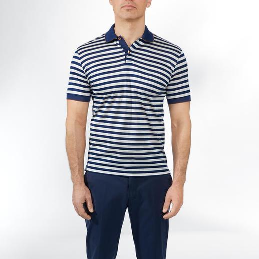 Piqué-Streifen-Poloshirt