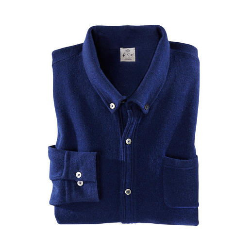 Das luxuriöse Feinstrick-Hemd von FTC Cashmere - auch lässig als Jacke tragbar. SeaCell®Cashmere: Schmiegsam weich dank Kaschmir. Trocken und pillingarm dank Meeresalgen.
