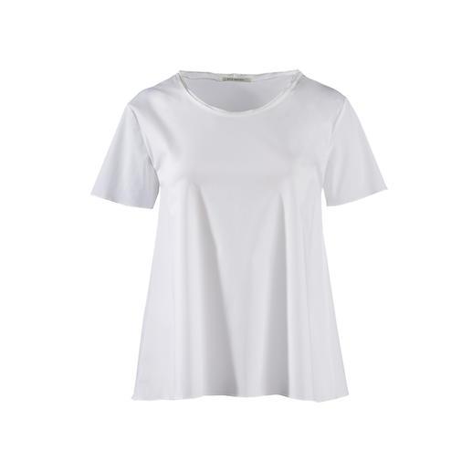 Silk Sisters Basic-Shirt Edler als die meisten: das weisse Basic-Shirt aus feinem Blusenstoff.