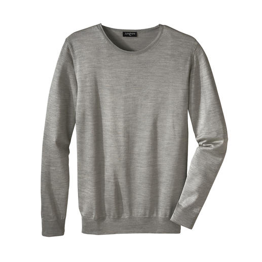 Junghans 1954 Basic-Seiden-Pullover, Rund- oder  V-Ausschnitt Edler Feinstrick. Reine Seide. Made in Italy. Und doch erfreulich erschwinglich. Von Junghans 1954.