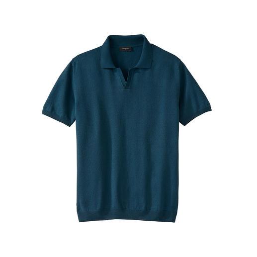 Das Poloshirt aus Paper-Cotton: 3-mal leichter als Baumwolle. Mit besten Klima-Eigenschaften, UV-Schutz und antibakterieller Wirkung. Von Junghans 1954.