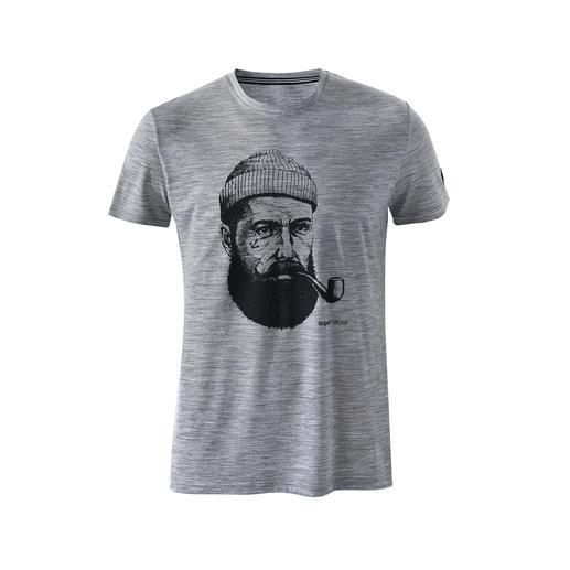super.natural Herren-Motiv-Shirt Das dezente Eyecatcher-Motiv gefällt fast jedem. Den Unterschied beim Tragen spüren nur Sie.