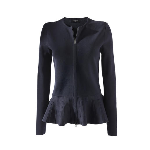 Junghans1954 Schösschen-Strickjacke Die Eleganz eines Couture-Blazers. Die Bequemlichkeit eines Cardigans.