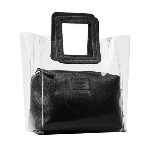 Ilse Jacobsen Transparent-Tasche Aufgeräumte Optik durch 2-in-1-Verarbeitung mit herausnehmbarem Innenbeutel.