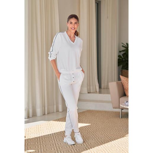 HFor Sweat-Hose, Langarm oder -Kurzarm-Sweater Der Loungewear-Anzug vom jungen, belgischen Label HFor. Herrlich bequem. Trendgerecht strassentauglich. Und erfreulich erschwinglich.