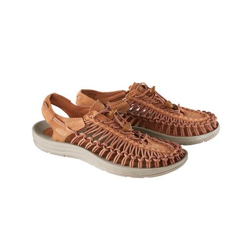 Die derzeit wohl innovativste Outdoor-Sandale. Passgenaue Bequemlichkeit vom Outdoor-Spezialisten KEEN®, USA.