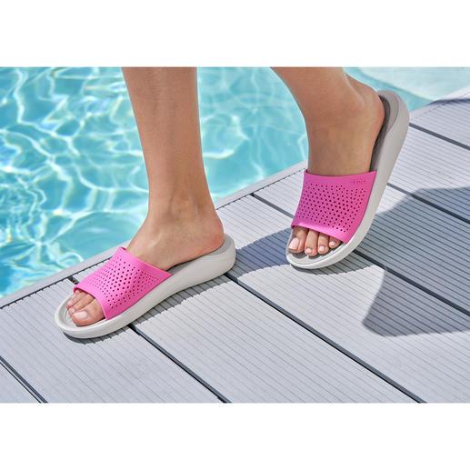 Crocs™ LiteRide™ Damen-Badeschuhe Aus sehr guten Crocs™ wurden noch bessere Crocs™. Die neue LiteRide™-Kollektion ist 40 % weicher, 25 % leichter, und … und … und.