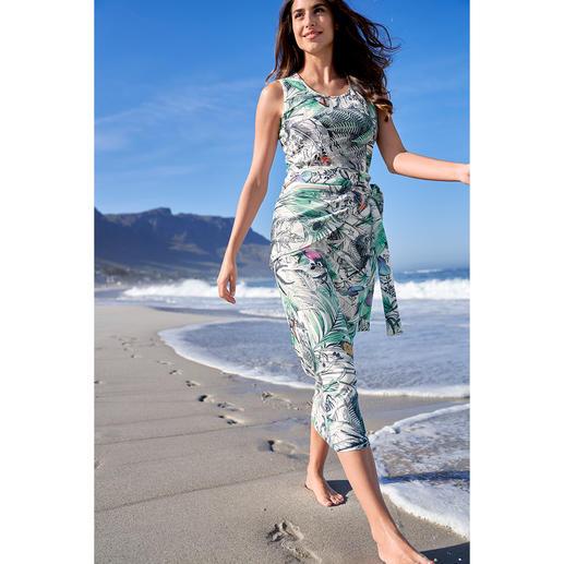 Kofferkleid Rippenjersey, ärmellos (ohne Cacheur) Waschen, trocknen, tragen. Das pflegeleichte Kofferkleid.