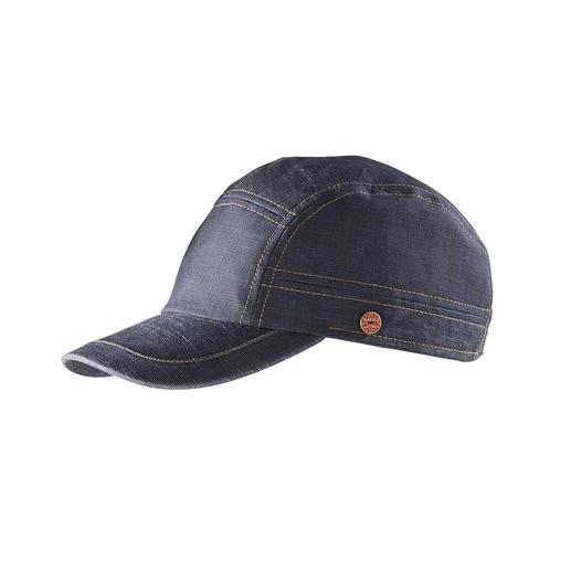 Mayser Basecap Denim-Look Modisch wichtig wie andere Denim-Kappen auch. Aber viel leichter, viel luftiger.