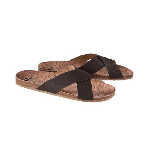 Bonne pour l'environnement. Et pour vos pieds. La sandale végane avec voûte plantaire en liège confortable et semelle en caoutchouc souple et antidérapante.