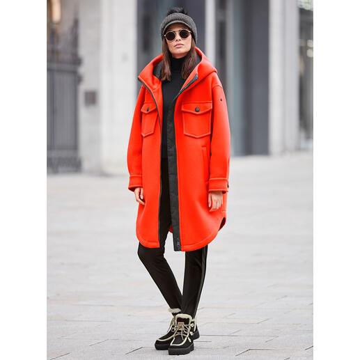 Goldbergh Sports-Couture- Parka, orange Sportliche Streetwear oder stylishe Sportswear? Beides! Vom niederländischen Fashion-Press-Liebling Goldbergh.