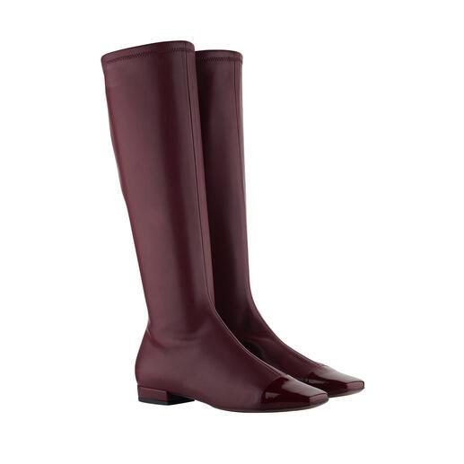 Der edle und elegante unter den angesagten Langschaft-Stiefeln. Aus handschuhweichem Stretchleder. Französisches Schuh-Design made in Italy. Von L'Autre Chose.