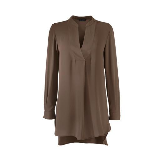 Die Tunikabluse von Janice & Jo: edel  wie eine Seidenbluse, aber mindestens so unkompliziert wie ein Shirt. Weich fliessend. Waschbar. Und bügelleicht.