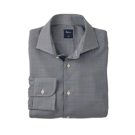 Das wohl leichteste und feinste, klimaregulierende Business-Hemd. Eine Rarität aus reinem Super 130-Wollgarn.