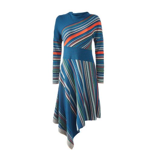 Das Jacquard-Strickkleid in aussergewöhnlicher Farb- und Muster-Vielfalt. Von IVKO,  eine Rarität gefertigt in Serbien.