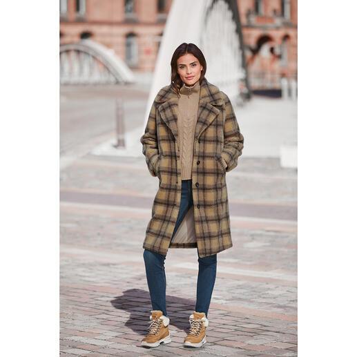 molliolli Teddy-Karo-Mantel Wintermantel-Favorit 2020/2021: der Teddy-Karo-Mantel vom koreanischen Toplabel für bestes Fake Fur  – molliolli ECO-FUR.