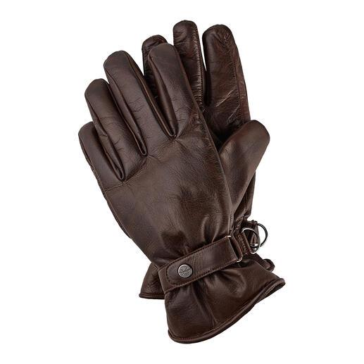 Die Leder-Handschuhe im angesagten Vintage-Look. Von Pearlwood. Herrlich geschmeidig und extrem strapazierfähig.