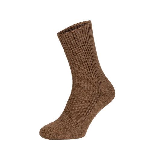 Kamelhaarsocke Der Luxus echter Kamelhaar-Socken: Schmiegsam weich. Enorm robust. Und nur schwer zu finden.