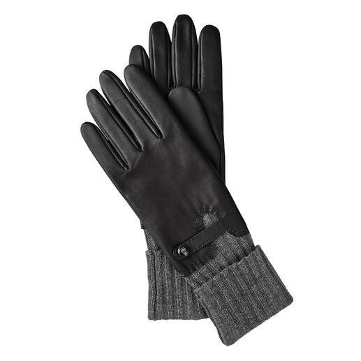 Der edle Leder-Handschuh mit integrierter Stulpe: konsequenter Kälteschutz. Von Roeckl, seit über 180 Jahren Spezialist für stilvolle Accessoires.