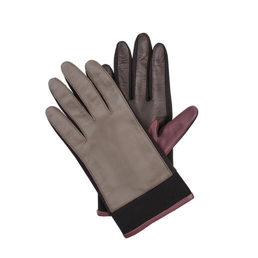 Der Leder-Handschuh mit zeitgemässem Update. Von Otto Kessler, seit 1923. Neopren-Einsätze machen ihn viel flexibler, Trendfarben viel interessanter.
