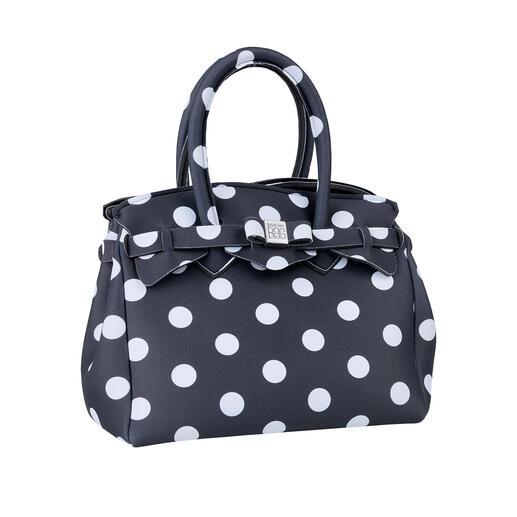 Ultraleicht-Mini-Tasche, Punkte Klassischer Look, innovatives Material: Diese ultraleichte Handtasche wiegt nur 215 Gramm. Made in Italy vom Kultlabel Save My Bag.