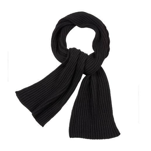 Der Schal aus seltener Baby-Lama-Wolle. Herrlich leicht, weich und warm. Für Damen und Herren.