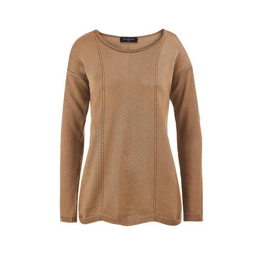 Junghans 1954 Merino-Wellen-Pullover Viel interessanter, viel femininer als übliche Basic-Pullover. Und doch genauso kombinierfreudig.