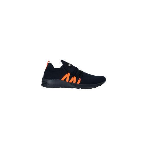 Ecoalf Recycling-Knit-Sneaker, Navy/Orange