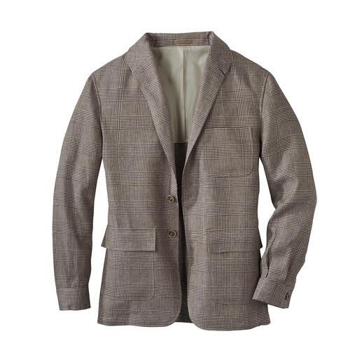 Das sommerleichte Teba Jacket aus irischem Leinen: Stilvoll wie ein Sakko. Lässig wie eine Jacke. Von Curzon Classics – einer der wenigen noch bestehenden Teba-Manufakturen.