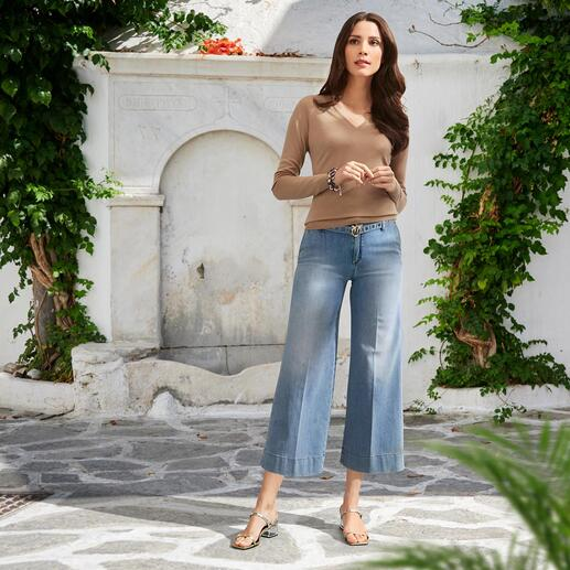 Pinko Light Denim-Culotte
