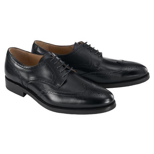 Der erstklassige Business-Schuh für  339.- Franken . Edles Kalbleder in seltener Goodyear Welted-Machart. Drei Modelle. Von Cordwainer.