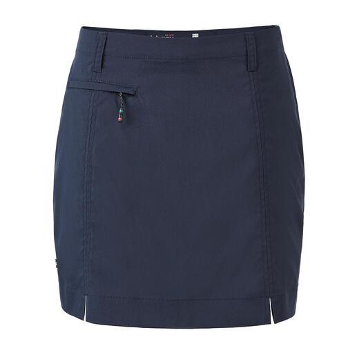 Der geniale Funktionsrock von Dubarry. Skort: Aussen Skirt, innen Shorts.