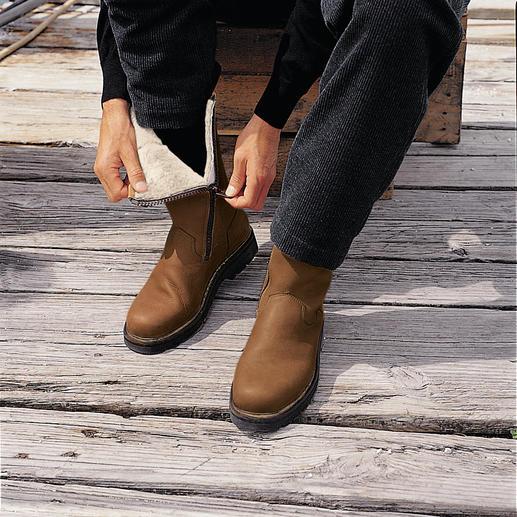 Elchleder-Stiefel Kälte, Matsch und Schnee - kein Problem für diese Fellstiefel.