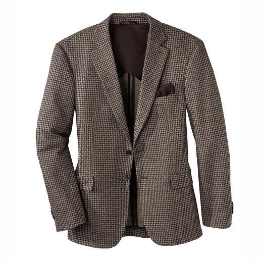Das Sakko aus luxuriösem italienischen Woll-Seiden-Jersey. Edel wie ein feines Mass-Sakko. Bequem wie Ihre Lieblings-Strickjacke.
