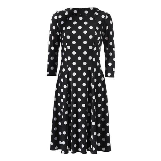 Der beliebte, feminine Klassiker Polka-Dot-Kleid: in zeitgemässem Schnitt und aus unkompliziertem Material. Von Swing – dem deutschen Kleiderspezialisten mit mehr als 25 Jahren Erfahrung.