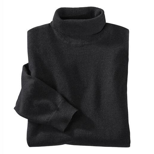 Der leichte und edle unter den Rollkragenpullovern. Aus langstapeliger Baumwolle mit Kaschmir-Anteil fein gestrickt. Von Ragman.