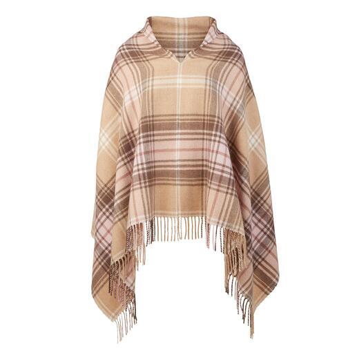 Der original Tartan-Poncho, der sich auch als Schal tragen lässt. Original-Dessin von einem der ältesten Tartanweber: Lochcarron of Scotland, seit 1892.