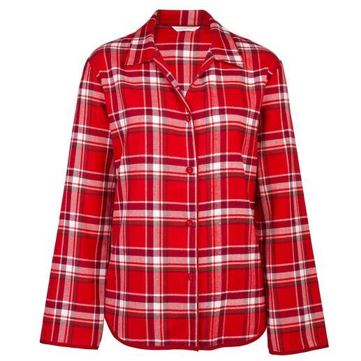 Der 5-fach gebürstete, aussergewöhnlich softe Flanell-Pyjama - so weich kann Wärme sein. Vom britischen Nachtwäsche-Spezialisten Cyberjammies. Für Damen und Herren.
