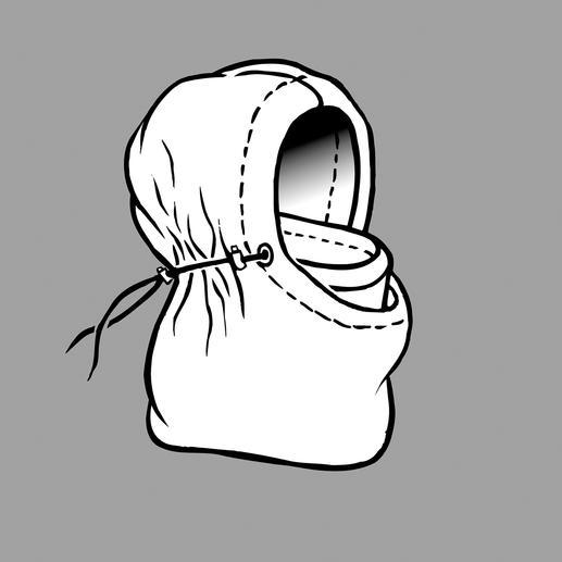 """Kapuzenmütze """"Balaklava"""" Die Urform dieser Kapuzenmütze wurde in den kalten Wintern an der Krim erdacht und erprobt."""