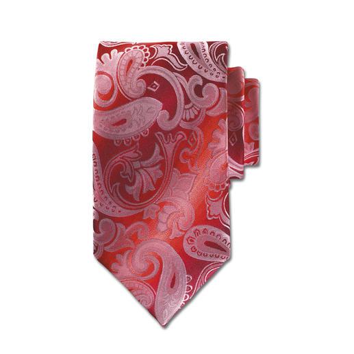Rosso-Paisley Krawatte - Eines der edelsten Krawatten-Dessins. In besonders seltener Version.