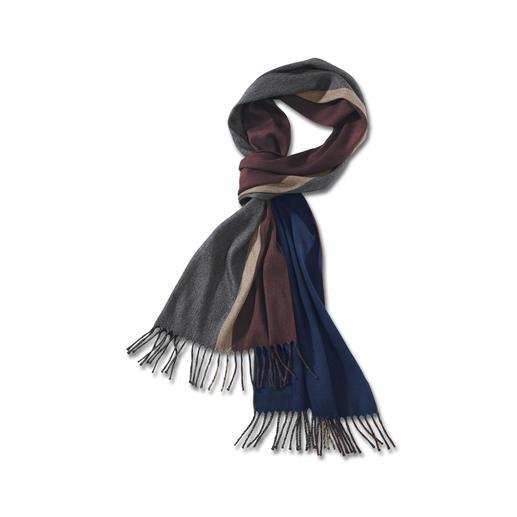 Kaschmir/Seide-Wendeschal - Die gedeckten Farben harmonieren mit all Ihren Jacken und Mänteln – perfekt auf Reisen. Von Piacenza/Italien.