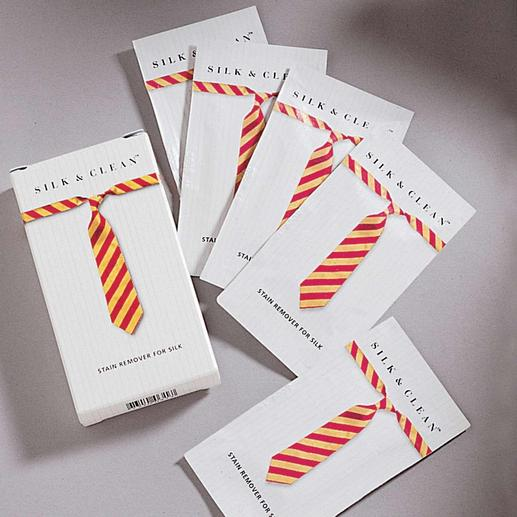 Silk & Clean-Tücher, 3er-Set (15 Tücher) Fleck auf Ihrer Krawatte? Endlich kommt die Rettung.