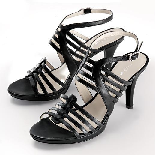 Lorbac Riemchen-Sandalette Elegante Sandalette. Unerwartet komfortabel. Ein Schaumstoffkern formt Ihr individuelles Fussbett.