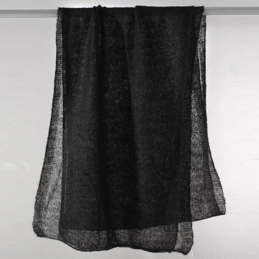 Luftschal Ihr wohl feinster und zartester Schal wiegt nur 20 Gramm, ist weich und wärmt sogar.