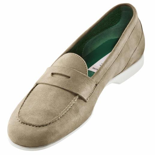 Fratelli Rossetti Barfuss-Mokassin, Veloursleder Frottee-Futter macht diesen Mokassin zum idealen Barfuss-Schuh. Von Fratelli Rossetti.