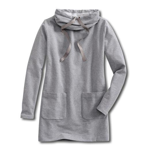 Sweatshirt-Kleid Bequem wie ein Homesuit. Aber viel charmanter. Das Sweatshirt-Kleid aus extraweichem Jersey.