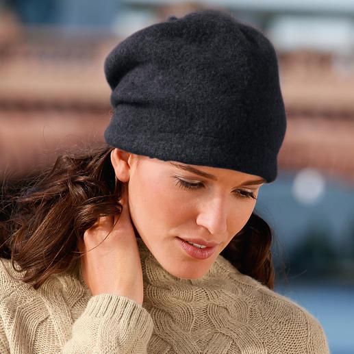 Ellen Paulssen Beanie-Walkmütze Zeitgemässe Form. Modisch lässiger Sitz. Und keine platt gedrückten Haare.