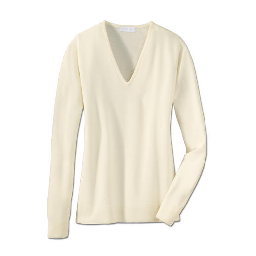 Feiner geht's nicht. Diese ultraleichten Pullover von John Smedley passen in jede Handtasche.