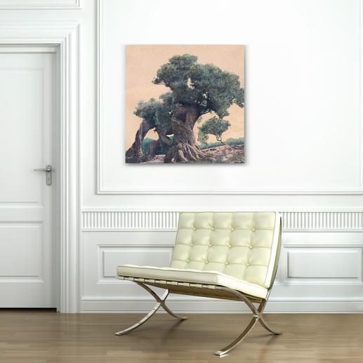 """""""Olivenbaum"""" ist in den Grössen 75 x 75 cm ..."""