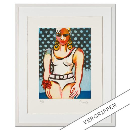 """Elvira Bach: """"Germany's Next Topmodel"""" 2010 - Unverkennbar Elvira Bach: Eines ihrer weltberühmten Frauenportraits als Radierung. Die letzten 20 Exemplare der 99er-Edition."""